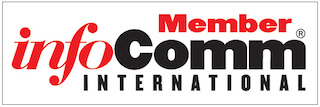 InfoComm International Logo colors are red and black.